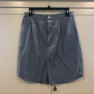 Shirttail detail mini skirt